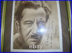 Autographe Dédicace ORIGINAL du Grand Acteur RAIMU sur Photo Portrait Encadrée