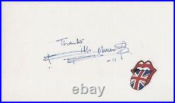 Autographe Dédicace ORIGINAL du Guitariste KEITH RICHARDS sur Bristol + 1 Photo