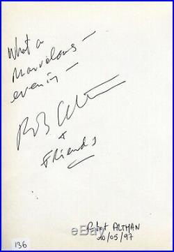 Autographe Dédicace ORIGINAL du cinéaste JEAN LUC GODARD sur page Livre d'or