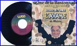 Autographe Dédicace de l'Acteur LOUIS DE FUNES sur Pochette 45T L'AVARE 1980