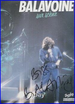 Autographe Dédicace du Chanteur DANIEL BALAVOINE sur Pochette LP 33T OLYMPIA 81
