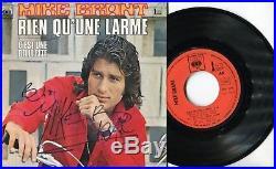 Autographe Dédicace du Chanteur MIKE BRANT sur pochette SP 45T 1973 RARE