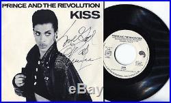 Autographe Dédicace du Chanteur PRINCE sur Pochette SP 45T KISS Paris Bercy 1987