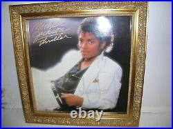 Autographe Dédicace du Roi de la Pop MICHAEL JACKSON sur photo Encadrement Luxe
