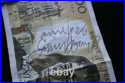 Autographe Gainsbourg Billet 500 Francs GAINSBOURG + Certificat Authenticité