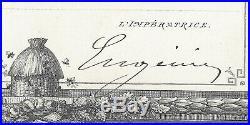 Autographe Imperatrice Eugenie / Societe Du Prince Imperial (1862)
