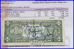 Autographe JOHNNY HALLYDAY Dedicace sur Dollar, Concert LAS VEGAS 1996 T. B. État