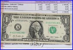 Autographe JOHNNY HALLYDAY sur Dollar Signé à Las Vegas1996 Dedicace HALLYDAY