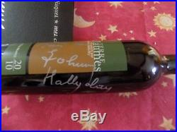 Autographe Johnny HALLYDAY Bouteille VIN Signée Johnny Dedicace Johnny Hallyday