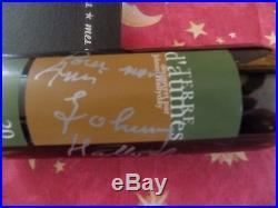 Autographe Johnny HALLYDAY Bouteille VIN Signée Johnny Hallyday Idée Cadeau NOEL