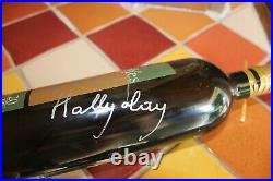 Autographe Johnny HALLYDAY Dédicace sur Bouteille Vin Hallyday (avec CERTIFICAT)