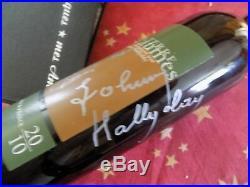 Autographe Johnny Hallyday Bouteille Vin HALLYDAY Dédicace Wine Johnny Hallyday