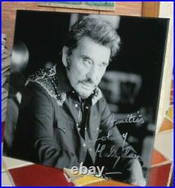 Autographe Johnny Hallyday De Sa main Dédicace Johnny Hallyday idée Cadeau Noël