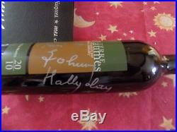 Autographe Johnny Hallyday signé main, Bouteille Johnny Hallyday Wine Diffusion