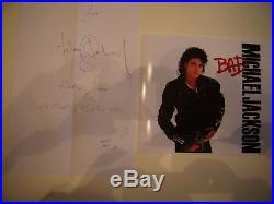 Autographe Lettre Manuscrite du Chanteur MICHAEL JAKSON 1998 TRES RARE