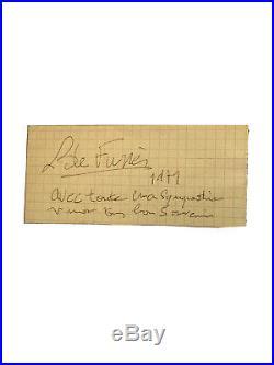 Autographe Louis de Funès Encadré 1979