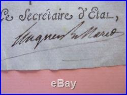 Autographe Napoleon Bonaparte Nomination Officier Art Revolution Empire