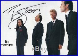 Autographe ORIGINAL du Chanteur DAVID BOWIE sur Pochette LP 33T 1989
