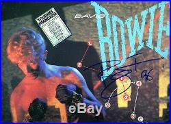 Autographe ORIGINAL du Chanteur DAVID BOWIE sur Pochette LP 33T LET'S DANCE 1983