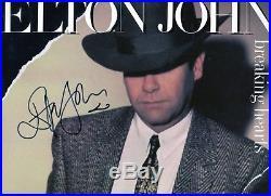 Autographe ORIGINAL du Chanteur ELTON JOHN sur Pochette LP 33T 1984