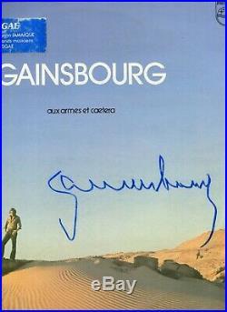 Autographe ORIGINAL du Chanteur SERGE GAINSBOURG sur Pochette LP 33T 1979