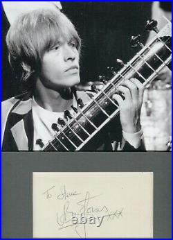 Autographe ORIGINAL signed du Musicien BRIAN JONES Ex ROLLING STONES