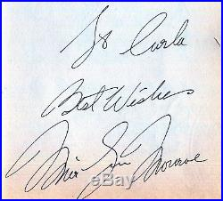 Autographe Vintage MARILYN MONROE Autograph Paper 1959 Hand signed