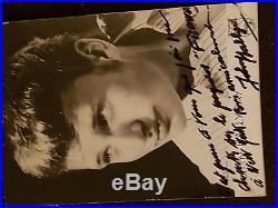 Autographe de Johnny Hallyday de 1962