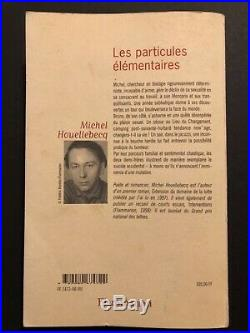 Autographe original de Michel Houellebecq Dédicace et citation sur livre