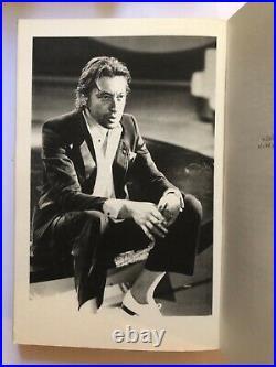Autographe original de Serge Gainsbourg (et Jane Birkin) sur livre Signed