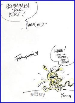 Autographe (s) dédicace (s) FRANQUIN BATEM YANN MARS LE NOIR MARSUPILAMI 1989