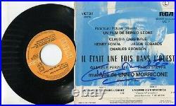 Autographes CHARLES BRONSON, ENNIO MORRICONE, CLAUDIA CARDINALE sur BO Film