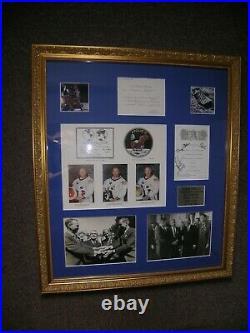 Autographes EXCEPTIONNELS Mission APOLLO 11 Déjeuner Elysée 8 Octobre 1969