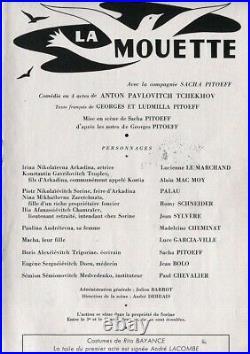 Autographes ROMY SCHNEIDER Sacha PITOEFF +4 sur Programme Théâtre LA MOUETTE