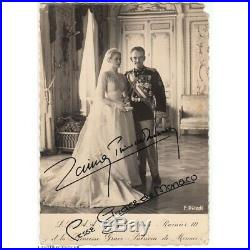 Autographes Sur Photo Officielle Du Mariage Du Prince Rainier III Et De La Prin