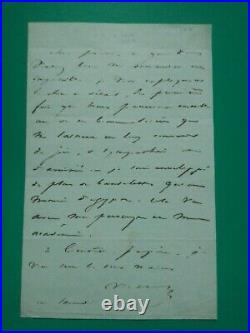 Autographes Victor Hugo Lettre autographe a Alphonse Karr 1843