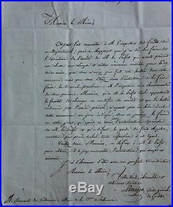 BATTUE AUX LOUPS L. A. S. Du GARDE GENERAL DES FORETS à SOUMARD MAIRE 1820
