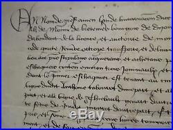 BEAU DOC. 1438 VENTE DE TERRES DE VIGNE à MARCENAY (CÔTE D'OR)
