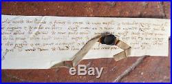 BERRY moyen age parchemin 1368 par Leplanche officier des gardes du duc d berry