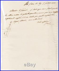 BONAPARTE Joseph Lettre autographe signée Saint-Jean-de-Luz 5 juillet 1813