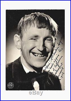 BOURVIL Photo Dédicace Autographe Signée / Contes d'Hoffmann