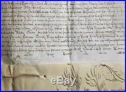 BULLE-PAPE CLEMENT XI manuscrite en son nom en 1706-très rare -parchemin-RARE