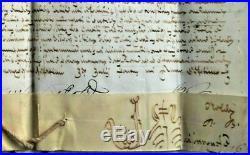 BULLE-PAPE INNOCENT XII (A. PIGNATELLI) 1697 manuscrite en son nom -très rare