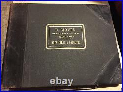 B. Sirven Imprimeur Editeur Mots dorés & Découpés Motifs de lettres et chiffres