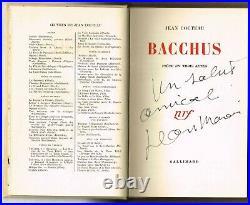 Bacchus De Jean Cocteau E. O. 1952 Avec Envoi De Jean Marais