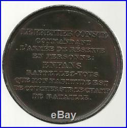 Bataille de MARENGO / Médaille originale 1800 / BONAPARTE 1° CONSUL
