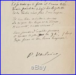 Beau sonnet de Verlaine, dédié à Huysmans