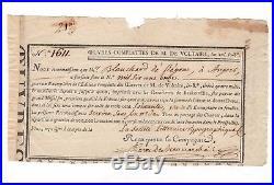 Beaumarchais / Manuscrit Autographe (1785) / Oeuvres De Voltaire / Figaro