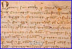 Belle charte du XIIIe pour l'acensement d'une vigne à Avignon