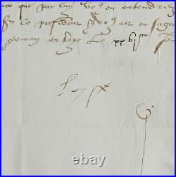 Belle lettre de Louise de Savoie